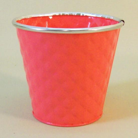 12cm Dapple Pot Coral -  POT006 2D