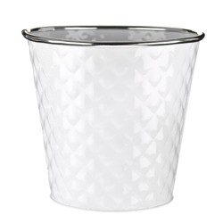 12cm Dapple Pot White -  POT004 2D