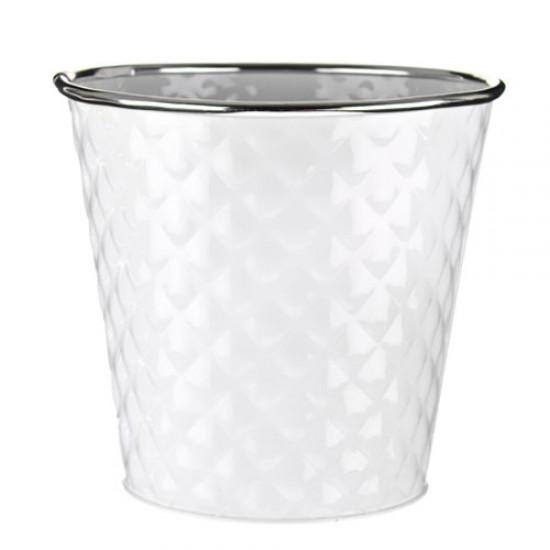 12cm Dapple Pot White -  POT004 2D