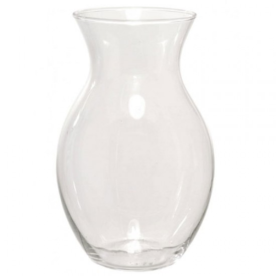15cm Clear Glass Flower Vase - GL042 2D