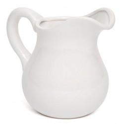 Home Store White Ceramic Jug 17cm - JUG001 7B