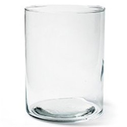 20cm Clear Glass Cylinder Vase - GL039 8C