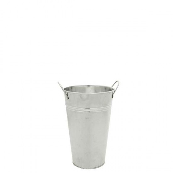 25cm Galvanised Flower Vase - GAL010