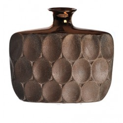Bronze Ceramic Flat Vase - VS002 10B