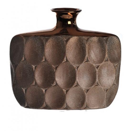 Bronze Ceramic Flat Vase - VS002 10B