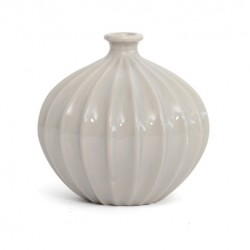 Ceramic Ridge Flower Vase Cloud - VS006 9B
