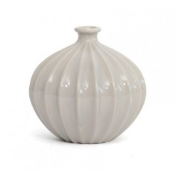 Ceramic Ridge Flower Vase Cloud - VS006 9B