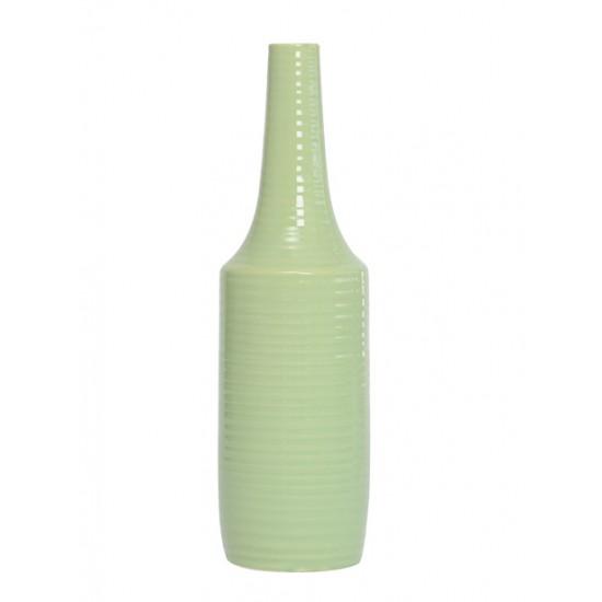 Ceramic Ridge Flower Vase Green - VS007 4D