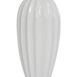 Ceramic Ridge Flower Vase White - VS003 11C