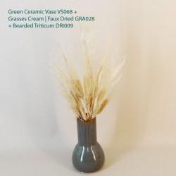Green Ceramic Bud Vase 17.5cm - VS068 9B
