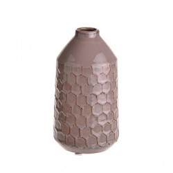 Honeycomb Ceramic Bud Vase Mauve Pink 17.5cm - VS070 9B