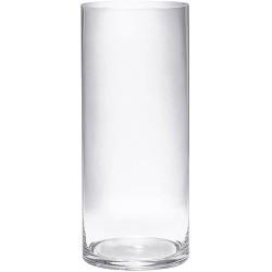 40cm x 18cm Clear Glass Cylinder Vase - GL074 8C
