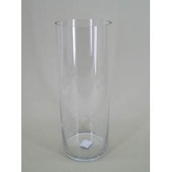 40cm x 15cm Clear Glass Cylinder Vase - GL028 6D