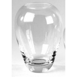 20cm Round Glass Flower Vase Clear - GL015 5A