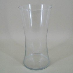 25cm Clear Glass Hand Tied Flower Vase - GL047  8A