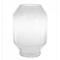 Clear Glass Lantern Vase 27cm - GL092