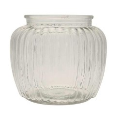 Ribbed Glass Vase 13cm - GL086 11D