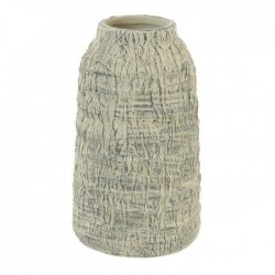 Contemporary Stone Effect Ceramic Flower Vase Grey 19cm - VS074