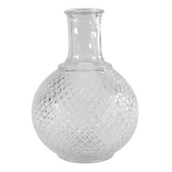 Diamond Clear Glass Bud Vase 18cm - GL019 11B