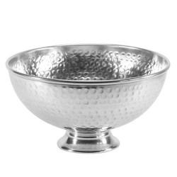 Dimpled Metal Punch Bowl Silver - MET021 1D