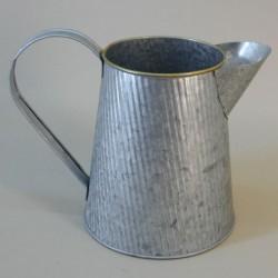 Distressed Zinc Jug 15.5cm - TIN014 FR