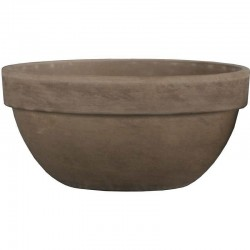 Dove Grey Terracotta Bowl 26cm -  BOW008