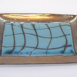 Florence Teal Blue Glazed Ceramic Plate - FL003 5D