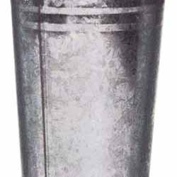 29.5cm Galvanised Flower Vase - GAL001