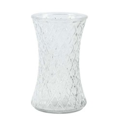 20cm Geometric Hand Tied Flower Vase Recycled Glass - GL040 7E