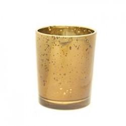 Glass Votive Candle Holder Antique Gold - GL013 5C