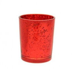 Glass Votive Candle Holder Antique Red - GL014 5C