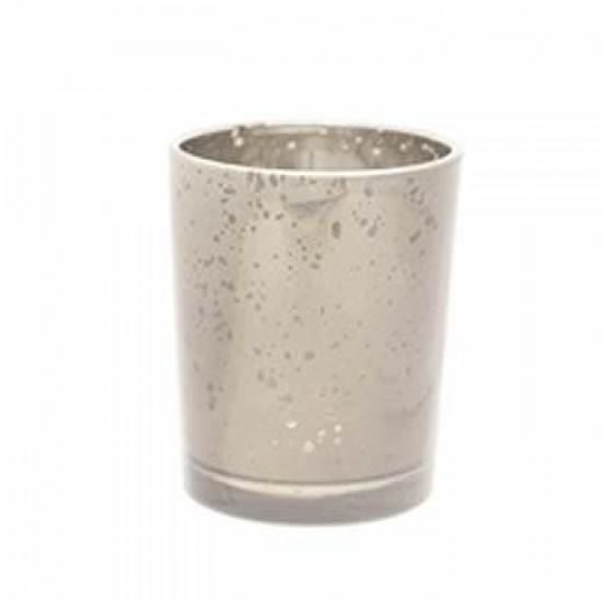 Glass Votive Candle Holder Antique Silver - GL012 5C
