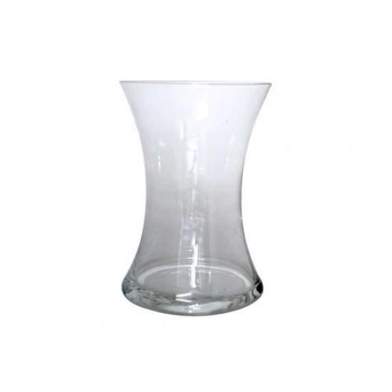 20cm Clear Glass Hand Tied Flower Vase - GL085 5B