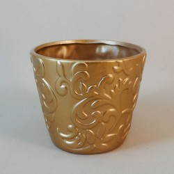 Ceramic Plant Pot Antique Gold - VS005