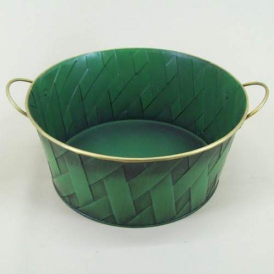 Green Lattice Tinware Dish - TIN001 6C