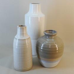 Hampton Flower Vase Bulbous Beige 26.5cm - VS001 1E