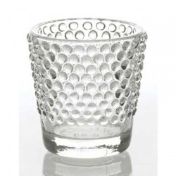 Hobnail Glass Votive Candle Holders 6 Pack - GL070 1B