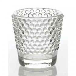 Hobnail Glass Votive Candle Holders 6 Pack - GL070 1B