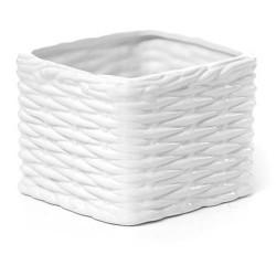 Home Store Basket Weave Ceramic Pot - BWV002 2C