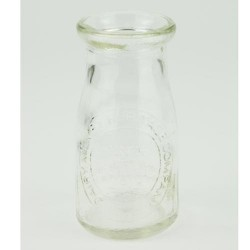 Home Store Clear Glass Milk Bottle Flower Vase 16cm - VS044 3C