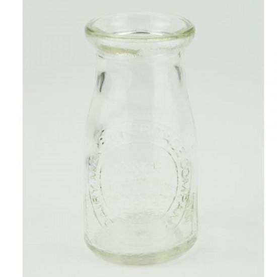 Home Store Clear Glass Milk Bottle Flower Vase 16cm - VS044 3C