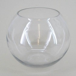 Large Fishbowl Vase Clear Glass 25.4cm x 21cm - GL034 5A
