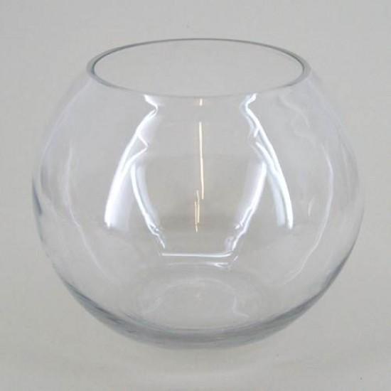 Large Fishbowl Vase Clear Glass 25.4cm x 21cm - GL034 5A