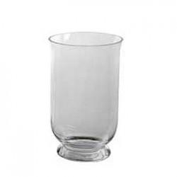 27cm Large Hurricane Vase Clear Glass - GL007 11B