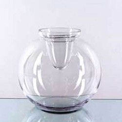 Large Fishbowl Vase with Candle Cup - GL004