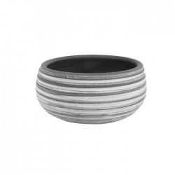 Lyon Earthenware Bowl Grey 20cm -  BOW009