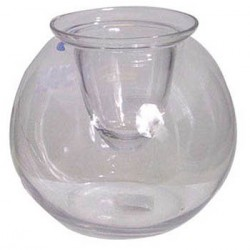 Medium Fishbowl Vase with Candle Cup - GL005 8D