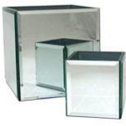 Bevelled Mirror Cube 12cm - GL020  9E