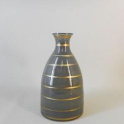 Orla Glass Vase Dove Grey and Gold 23cm - GL024 3C