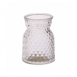 10.5cm Pressed Glass Flower Vase - GL046 11A